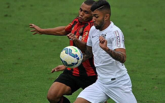 Na Vila Belmiro, Santos e Sport empataram em 2 a 2. Foto: Ivan Storti/Santos FC