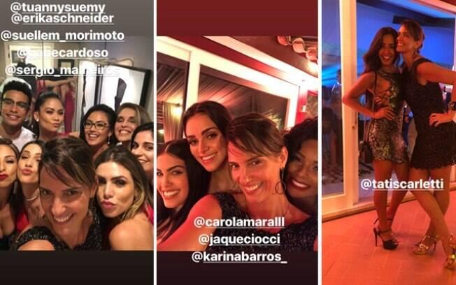 Luciana Cardoso roubou a cena nas fotos da festa do