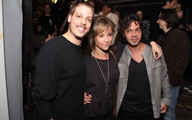 Fabio Porchat, Bruno Mazzeo e Juliana Didone na festa de Cilada.com