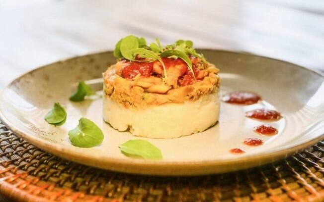 A receita de carne de jaca ao molho de barbecue de melancia foi elaborada pela chef Iracema Bertoco