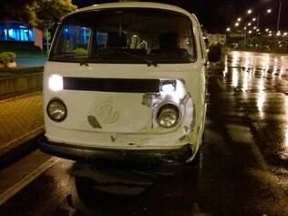 Motorista da Kombi não ficou ferido