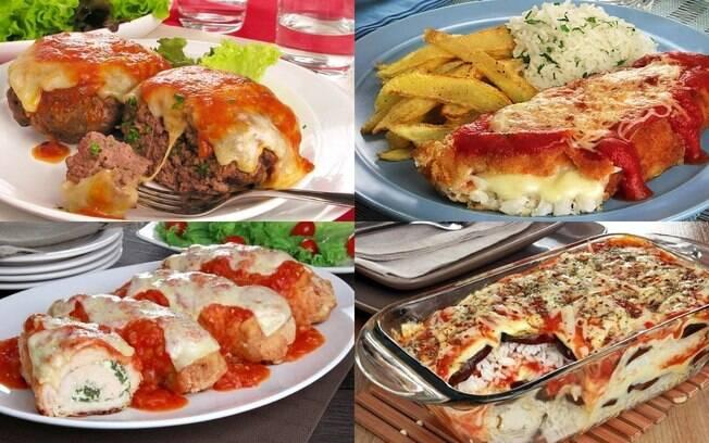 7 pratos à parmegiana para um almoço espetacular