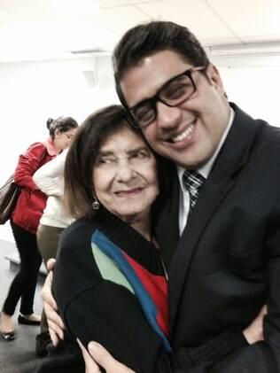 Dimitri Sales e sua avó, Dalva Moreira