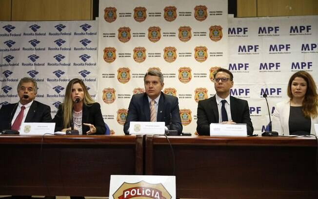 Coletiva de imprensa sobre a Operação Furna da Onça, na sede da Polícia Federal, no Rio de Janeiro