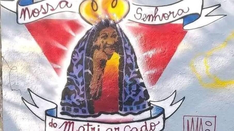 Prefeitura de São Paulo apaga desenho de Nossa Senhora no bairro da Pompéia
