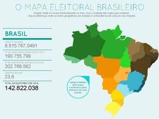 Conheça o mapa eleitoral brasileiro