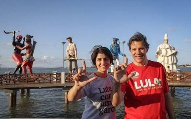 Manuela D'Ávila (PCdoB) é candidata a vice-presidente ao lado de Fernando Haddad (PT) a partir desta terça-feira