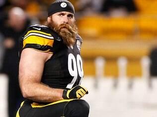 Brett Keisel, do Pittsburgh Steelers, tem uma das barbas mais conhecidas da NFL