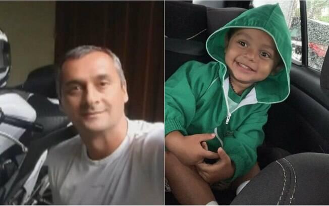 duas imagens, homem e menino