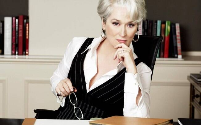 A grosseira Miranda Priestly (Meryl Streep), de O Diabo Veste Prada. Foto: Reprodução