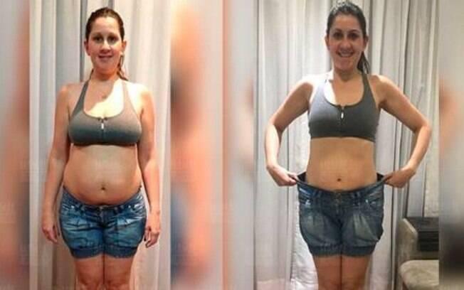 Amanda perdeu não só a barriga pós-parto, mas eliminou 10 kg fazendo exercícios rápidos em casa  do Queima Diária