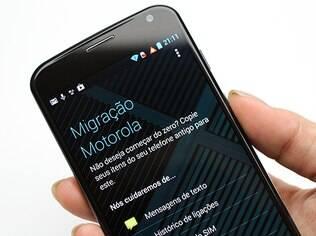 Aplicativo de migração de dados do Moto X