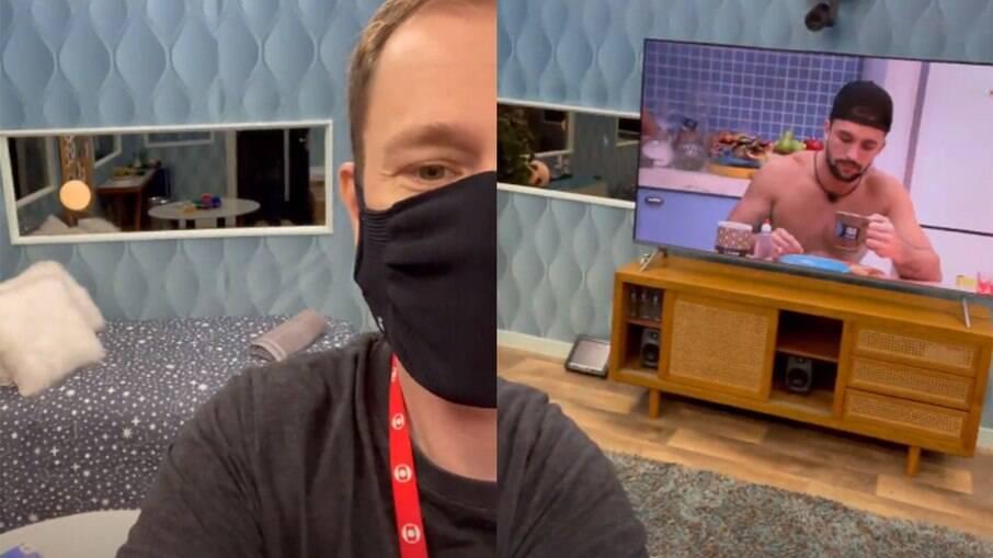 Tiago Leifert mostra detalhes do quarto secreto
