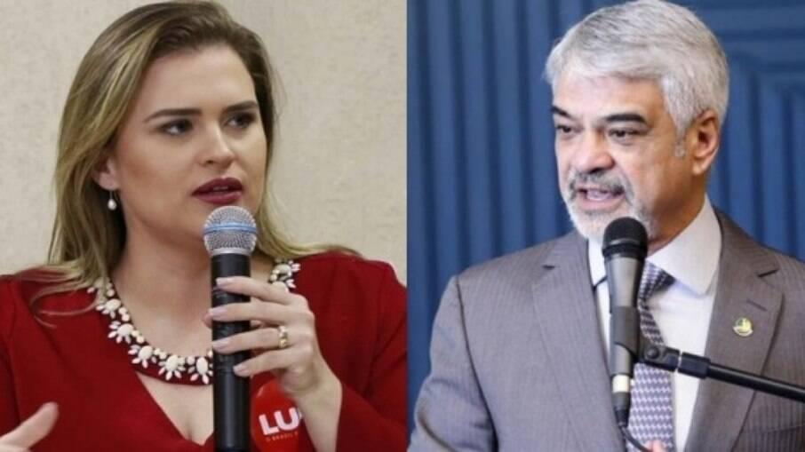 Deputada Marília Arraes e o senador Humberto Costa