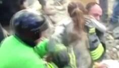 Menina de dez anos é resgatada após 17 horas sob os escombros