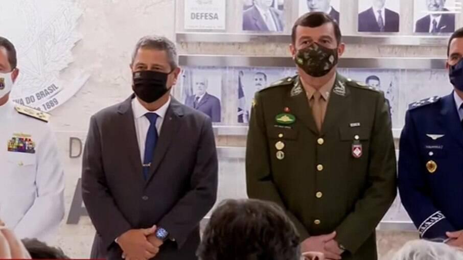Braga Netto e os novos comandantes das Forças Armadas