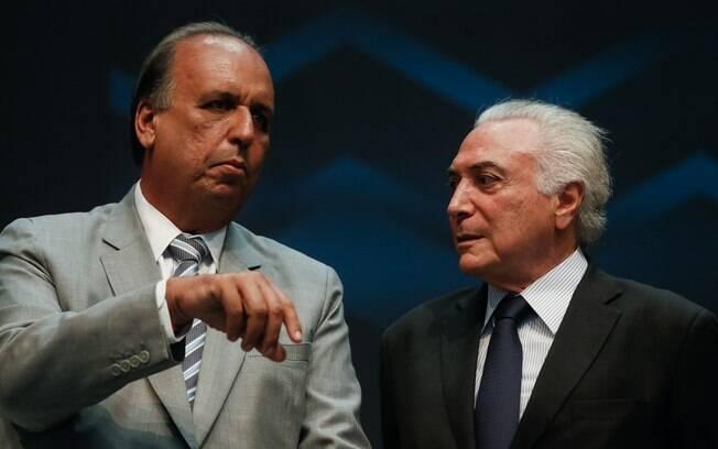 Governador do Rio de Janeiro, Luiz Fernando Pezão, cobrou recursos do presidente Michel Temer