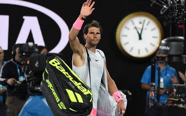 Rafael Nadal se despede da torcida do Aberto da Austrália 2018