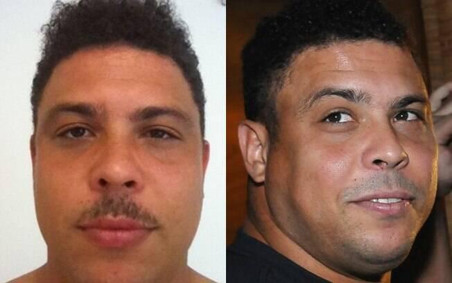 Ronaldo postou uma foto em que aparece com bigode nessa terça-feira (22) e com o rosto barbeado três dias depois