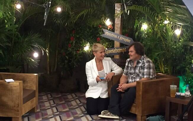 Xuxa recebe Jack Black em seu programa