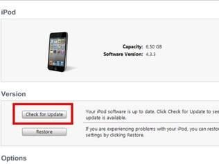 iTunes atualiza o aparelho com nova versão do iOS