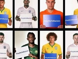 Campanha da Fifa contra o racismo durante a Copa contou com oito jogadores, entre eles três brasileiros e três ingleses