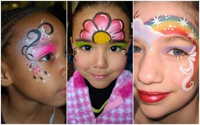 Maquiagem para crianças: cor, formas e muita criatividade são o segredo para as crianças curtirem o carnaval