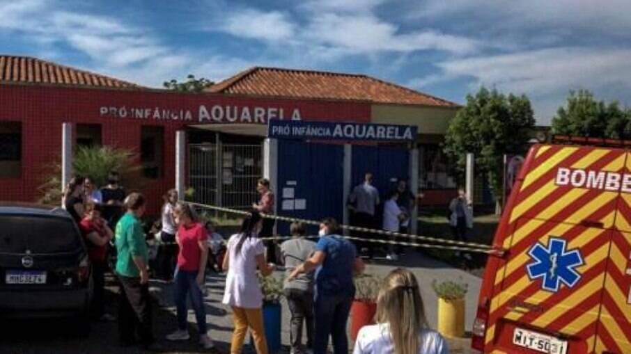 Ataque matou 3 crianças e 2 professoras da CEI (Centro de Educação Infantil) Pró-Infância Aquarela