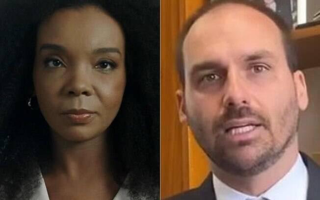 Thelma Assis e Eduardo Bolsonaro