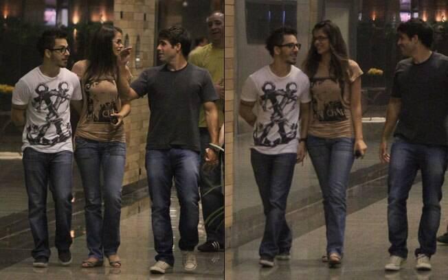 Junior Lima e Raissa Maciel ao lado de Raoni Carneiro