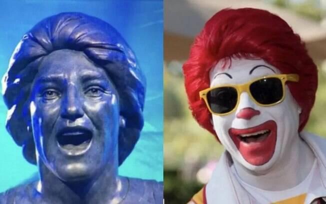 Estátua de Renato Gaúcho virou meme e foi comparada ao personagem Ronald McDonald