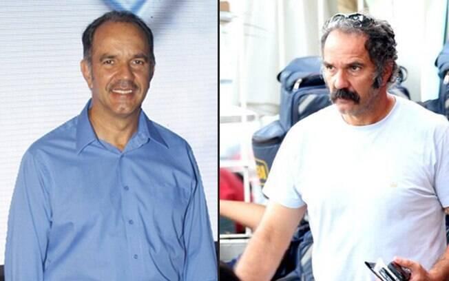 Humberto Martins em novembro de 2011 e nesta tarde (13): mudança