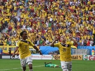 Jogo Costa do Marfim 1 x 2 Colômbia no estádio Mané Garrincha, em Brasília