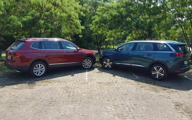 VW Tiguan Allspace x Peugeot 5008. Foto: Cauê Lira/iG Carros