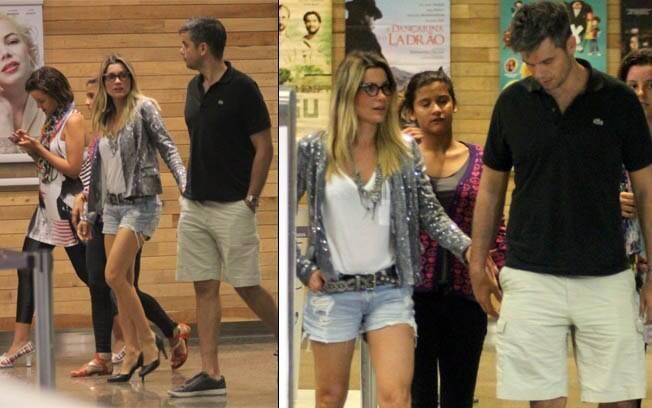 Flávia Alessandra passeia com a família no shopping nessa quinta-feira (12)
