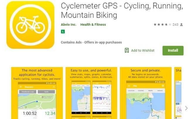 Aplicativos fitness: o Cyclemeter é ideal para quem ama sair por ai pedalando e quer saber quais foram os resultados