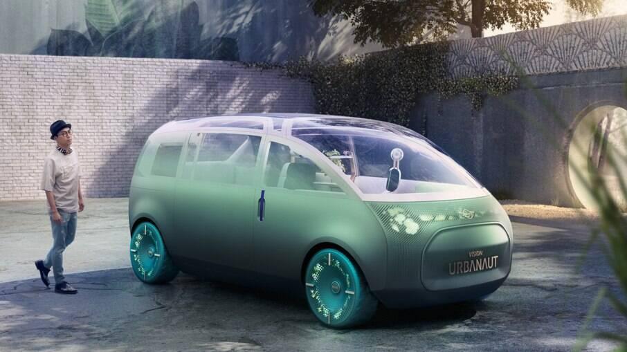 """O conceito """"Vision Urbanaut"""" dará origem as futuros modelos Mini elétricos, incluindo um crossover"""