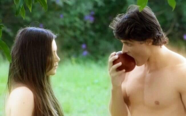 Cena de Adão e Eva na novela