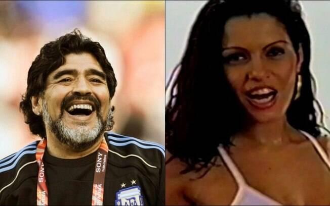 Fabiana chegou a fazer tatuagem em homenagem a Maradona