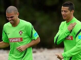 Companheiros no Real, Pepe e Cristiano Ronaldo estarão mais uma vez juntos na seleção portuguesa