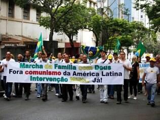 CIDADES : Marcha da Família com Deus BH FOTO: GUSTAVO BAXTER / O TEMPO 22..03.2014