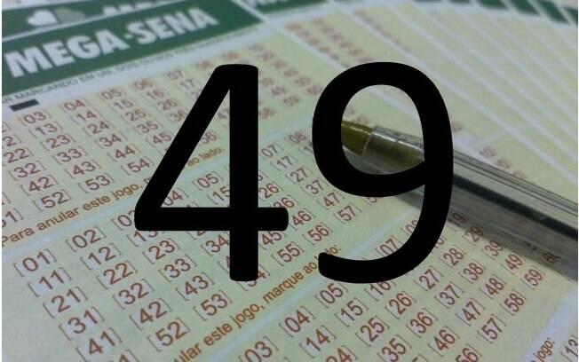 O 49 saiu em 189 sorteios – 46 vezes a mais do que os lanternas da Mega-Sena, 22 e 26. Foto: Divulgação