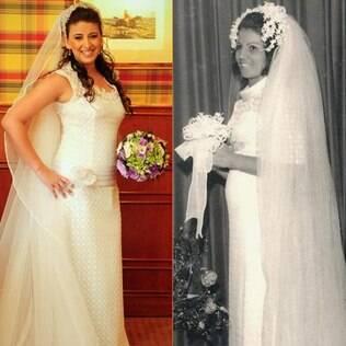 Angelica usou o mesmo vestido da mãe, Lenir: surpresa e emoção na igreja
