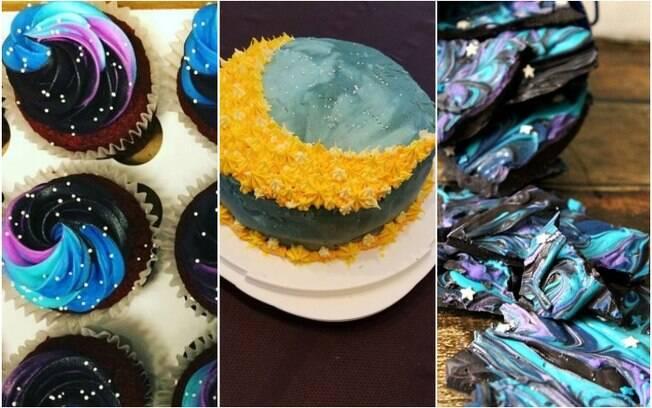 Cupcakes, bolos e outros doces inspirados em elementos do espaço tornam a noite do eclipse lunar mais saborosa