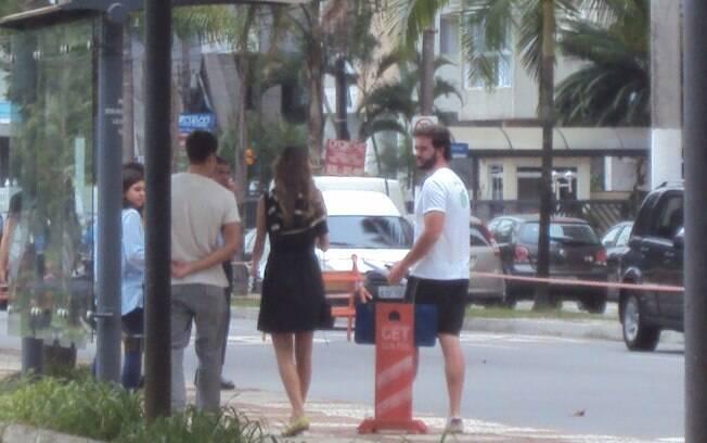 O trânsito foi interrompido para as filmagens da minissérie