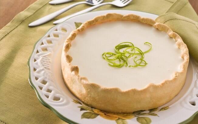 Foto da receita Torta de limão pronta.