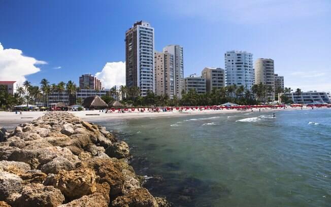 As praias de Cartagena tem areia branquinha