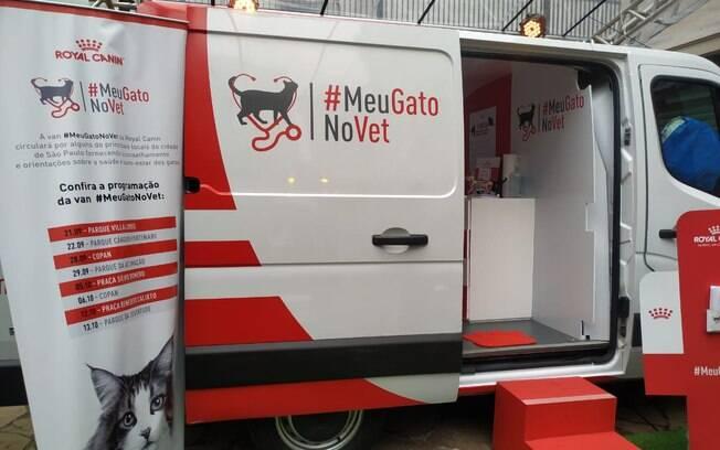 Van itinerante atenderá na Casa do Gato e em outros pontos da cidade de São Paulo