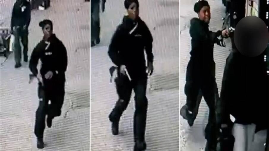 Câmera de segurança registrou momento em que Latisha Bell atinge a ex-companheira com um tiro