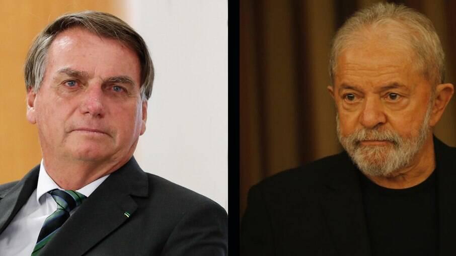 Presidente Jair Bolsonaro e ex-presidente Luiz Inácio Lula da Silva